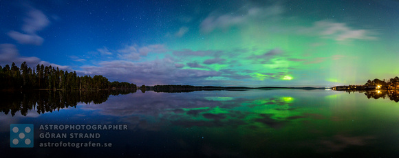 Panoramic Aurora reflection