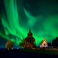 Froso Church Northern Lights