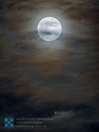 Moon, Jupiter and the Galilean moons