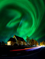 Northern Lights over Froso Church