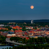 Full Moon over Östersund